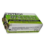 Hitech Lithium Polymer 9V Battery - 720mah - Rechargeable