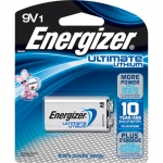 4 x Energizer 9 volts Lithium 1/card