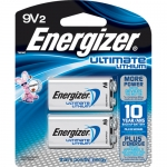 16 x Energizer 9 volts Lithium 2/card